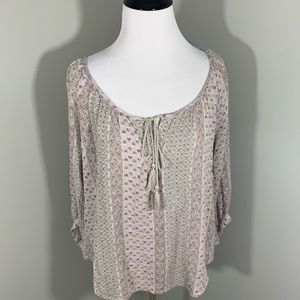 American Eagle Outfitters Boho style flowered top